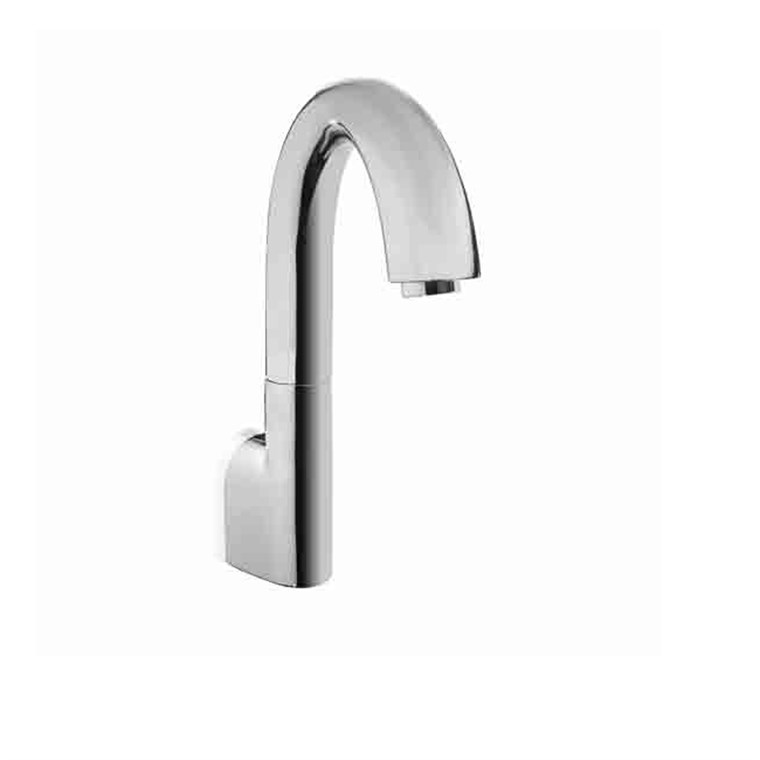 TOTO Gooseneck Wall-Mount EcoPower Faucet with Controller - 0.5 GPM TEL165