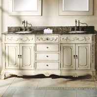 "James Martin 72"" Naples Double Vanity with Granite Top - Antique White 206-001-5521"