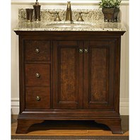 "Fairmont Designs Newhaven 36"" Vanity Drawer Left - Nutmeg 159-V36L"