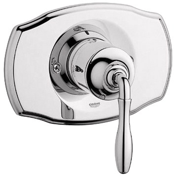 Grohe Seabury Pressure Balance Valve Trim with Lever Handle - Sterling Infinity Finishnohtin Sale $185.99 SKU: GRO 19708BE0 :