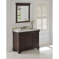 "Fairmont Designs Providence 42"" Vanity for Rectangular Sink - Aged Chocolate 1529-V42_"