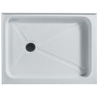 "Vigo Industries Rectangular Double Threshold Shower Base - 32"" x 48"" VG06019WHT3248"