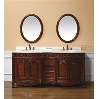 "James Martin 72"" Embassy Double Marble Top Vanity, Dark Cherry 206-001-5510"