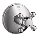 Grohe Geneva 3-Port Diverter Trim - Sterling Infinity Finish