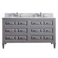 "Avanity Kelly 60"" Double Bathroom Vanity - Grayish Blue KELLY-60-GB"