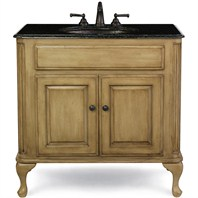 "Cole & Co. 37"" Custom Collection Large Classic Vanity - Parchment"