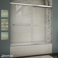 Bath Authority DreamLine Charisma 56 - 60 in. W x 58 in. H Bypass Sliding Tub Door SHDR-1360580