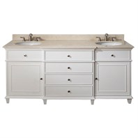 "Avanity Windsor 72"" Double Bathroom Vanity - White WINDSOR-72-WT"