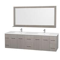 "Centra 80"" Double Bathroom Vanity Set by Wyndham Collection - Gray Oak WC-WHE009-80-DBL-GROAK"