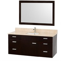 "Encore 52"" Single Bathroom Vanity Set by Wyndham Collection - Espresso WC-CG4000-52-ESP-"