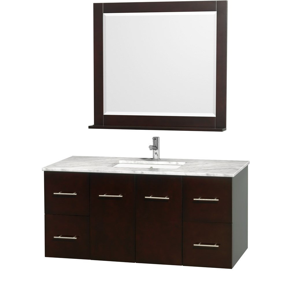 Centra 48 Single Bathroom Vanity For Undermount Sinks By Wyndham Collection Espresso Free Shipping Modern