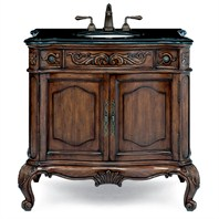 "Cole & Co. 31"" Premier Collection Med Provence Package Midnight Black with White Sink - Aged Chestnut 10.11.275230.27PBL"