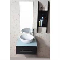 "Virtu USA Primo 24"" Single Sink Bathroom Vanity - Espresso UM-3079-G-ES"