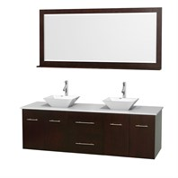 "Centra 72"" Double Bathroom Vanity for Vessel Sinks by Wyndham Collection - Espresso WC-WHE009-72-DBL-VAN-ESP_"