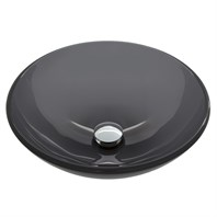 Vigo Sheer Black Glass Vessel Sink - Black VG07042