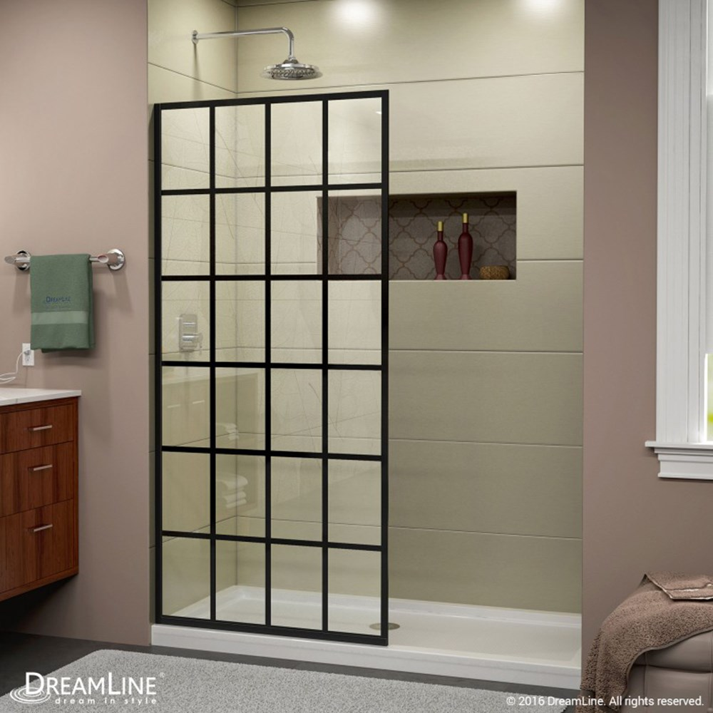Bath Authority Dreamline Linea Frameless Shower Door Panel 34 X 72 French Black