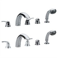 Grohe Talia 5-Hole Roman Tub Filler - Starlight Chrome
