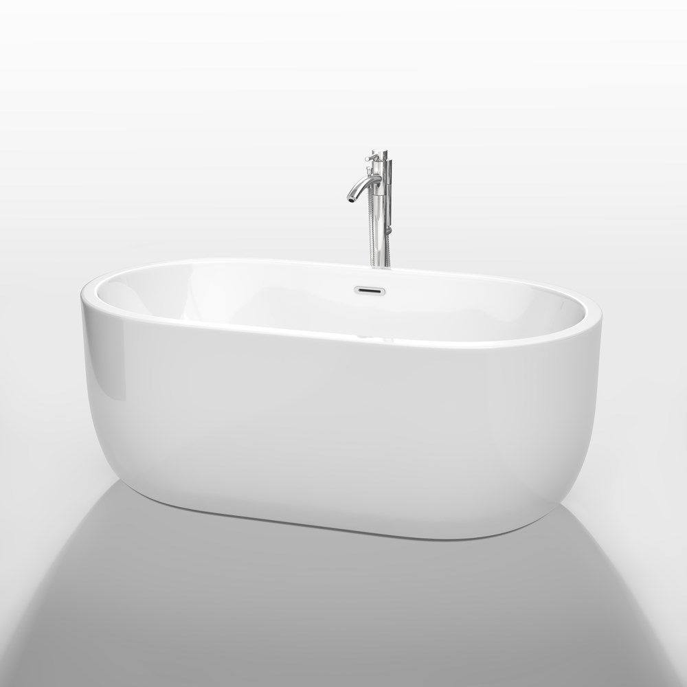 "Juliette 60"" Soaking Bathtub by Wyndham Collection - White WC-BT1013-60"