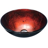 Vigo Industries Ruby Red Glass Vessel Sink
