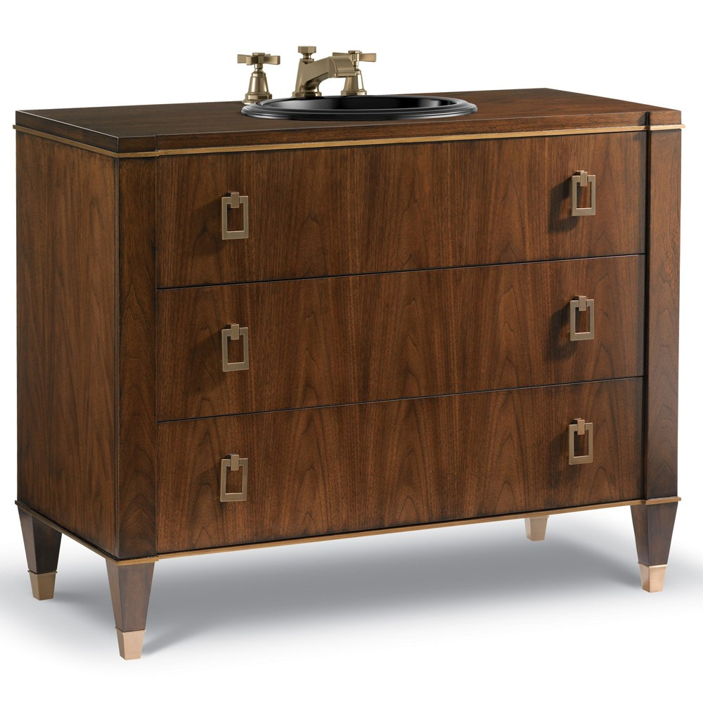 "Cole & Co. 42"" Designer Series Preston Sink Chest - Medium Walnut"