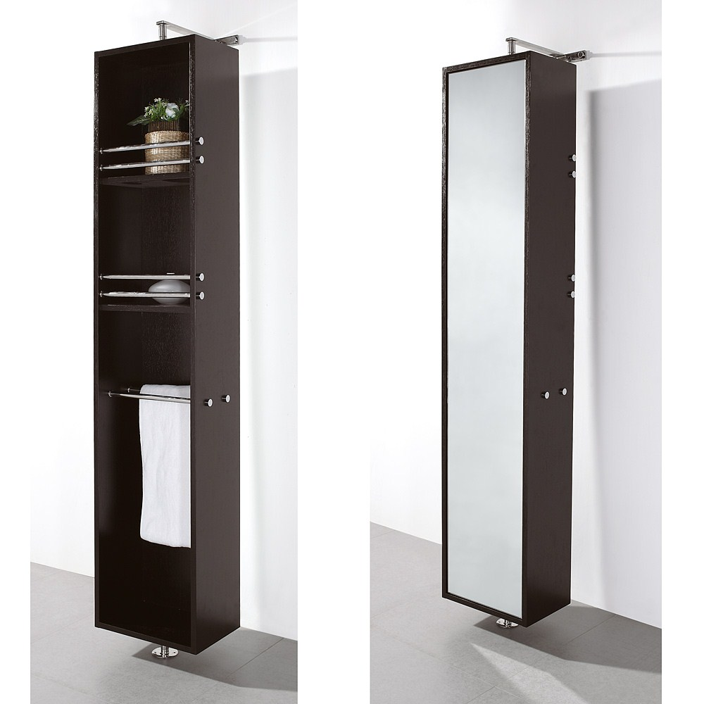 Claire Rotating Floor Cabinet with Mirror by Wyndham Collection - Espressonohtin Sale $699.00 SKU: WC-B802-ESP :