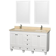"Acclaim 60"" Double Bathroom Vanity Set by Wyndham Collection - White WC-CG8000-60-WHT"