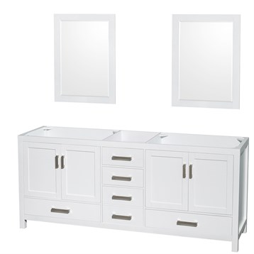 Sheffield 80 double bathroom vanity by wyndham collection for A c bathrooms sheffield