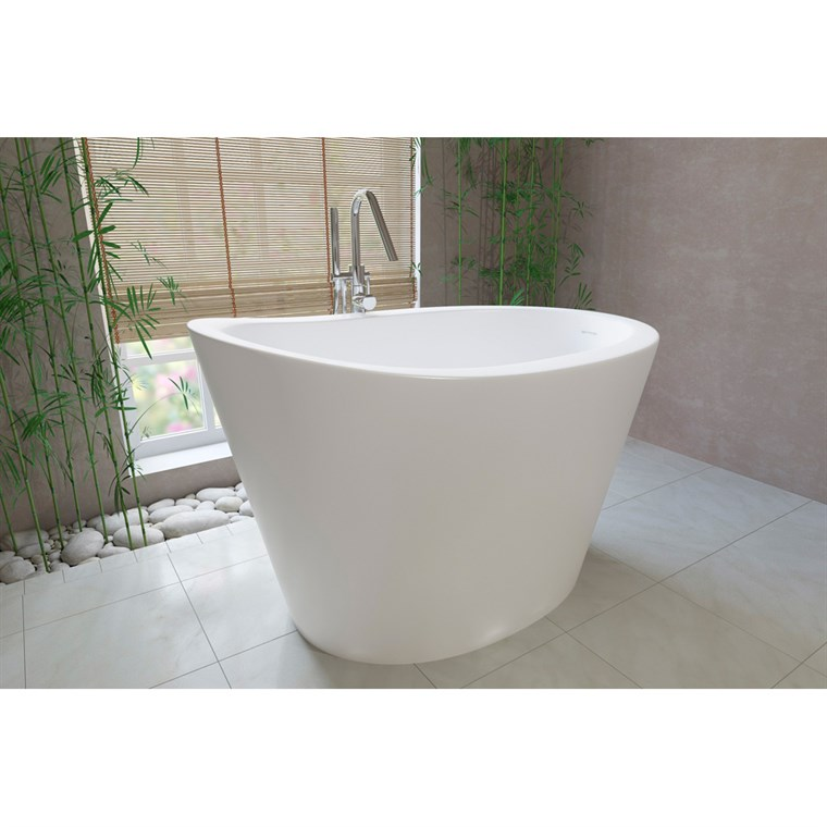 Aquatica True Ofuro Freestanding Stone Japanese Soaking Bathtub - Matte White Aquatica True-Ofuro-Wht