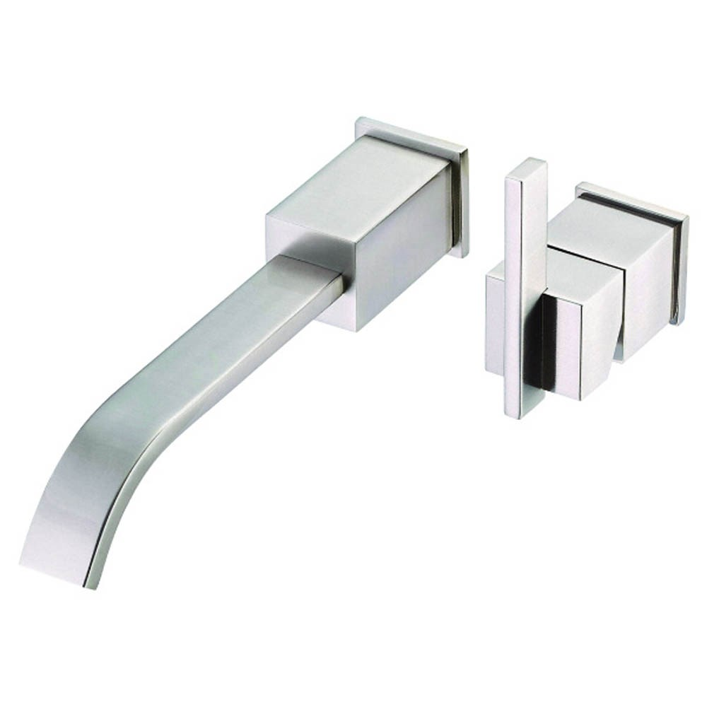 Danze Sirius 1H Wall Mount Lavatory Faucet Trim Kit w/ Metal Touch Down Drain 1.2gpm - Brushed Nickel D216144BNT