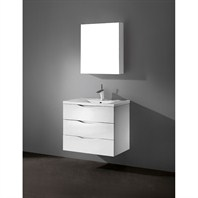 "Madeli Bolano 30"" Bathroom Vanity with Porcelain Top - Glossy White B100-30-002-GW-PORCELAIN"