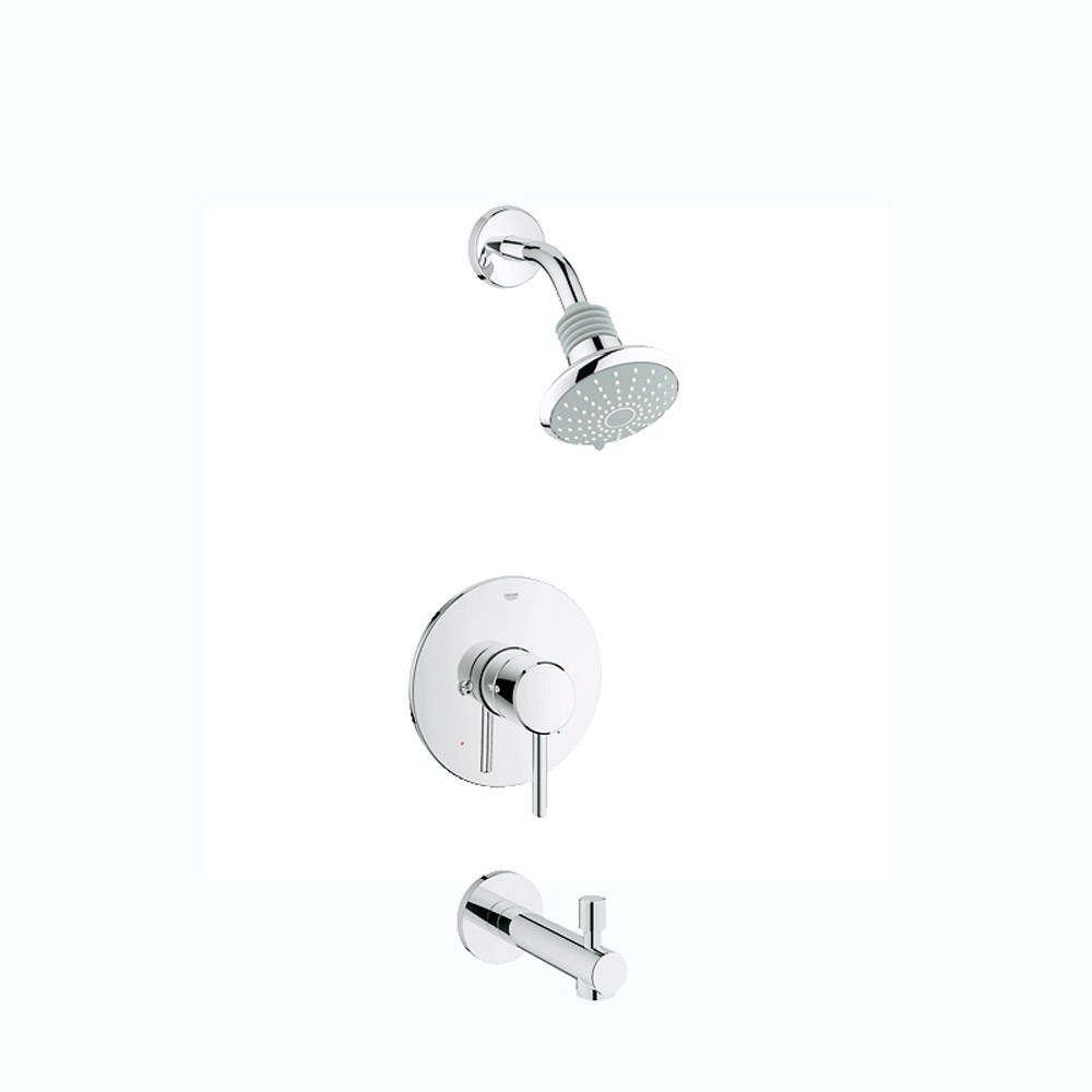 Grohe Concetto PBV Shower and Tub Trim Combination - Starlight Chromenohtin Sale $268.99 SKU: GRO 35009001 :