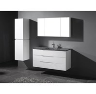 "Madeli Bolano 48"" Bathroom Vanity for Quartzstone Top - Glossy White B100-48-002-GW-QUARTZ"