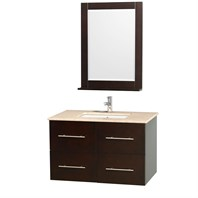"Centra 36"" Single Bathroom Vanity for Undermount Sinks by Wyndham Collection - Espresso WC-WHE009-36-SGL-VAN-ESP-"