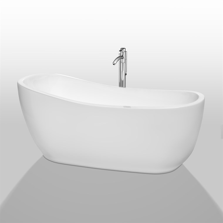 "Margaret 66"" Soaking Bathtub by Wyndham Collection - White WC-BTO856-66"