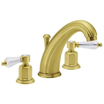 California Faucets Crystal Cove Widespread Lavatory Faucet Satin Gold Pvd Free Shipping