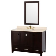 "Abingdon 48"" Single Bathroom Vanity Set by Wyndham Collection - Espresso WC-1515-48-ESP"