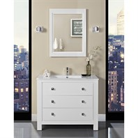 "Fairmont Designs Uptown 42"" Vanity for Integrated Sinktop - Glossy White 1520-V42-"