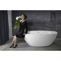 Aquatica Sensuality Mini-F-Wht Relax Solid Surface Air Massage Bathtub - Matte White Aquatica Sens-Mini-F-Wht-Rlx