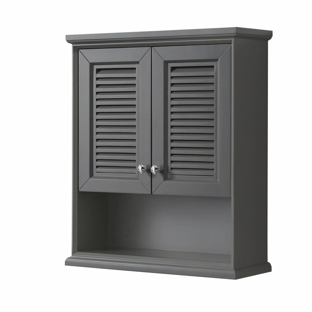 Tamara Over-Toilet Wall Cabinet by Wyndham Collection - Dark Gray WC-2121-WC-DKG