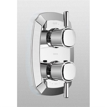 Toto Guinevere Thermostatic Mixing Valve Trim w/ Single Lever Handle Volume Control TS970C1.CP by Toto