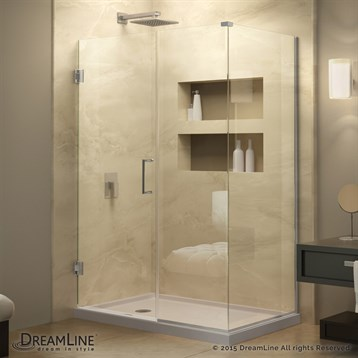 "DreamLine Unidoor Plus 37 to 44-1/2"" W x 34-3/8"" D x 72"" H Hinged Shower Enclosure SHEN-244XX340 by Bath Authority DreamLine"