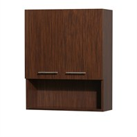 Centra Bathroom Wall Cabinet by Wyndham Collection - Zebrawood WC-V207-WC-ZEBRA