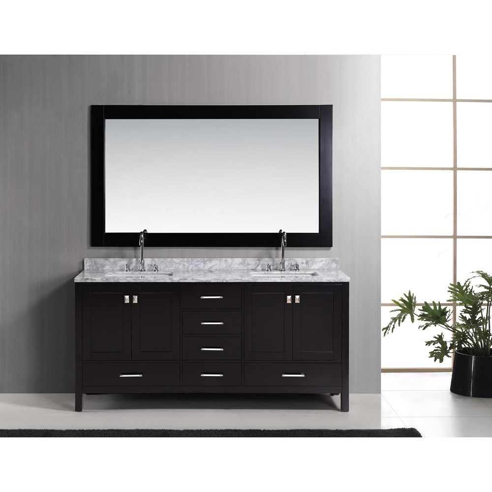 "Design Element London 72"" Double Vanity Set - Espressonohtin Sale $1899.00 SKU: DEC082B :"