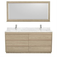 "Naya 72"" Double Bathroom Vanity by Wyndham Collection - Ash Gray WC-1818-72-DBL-VAN-ASG"