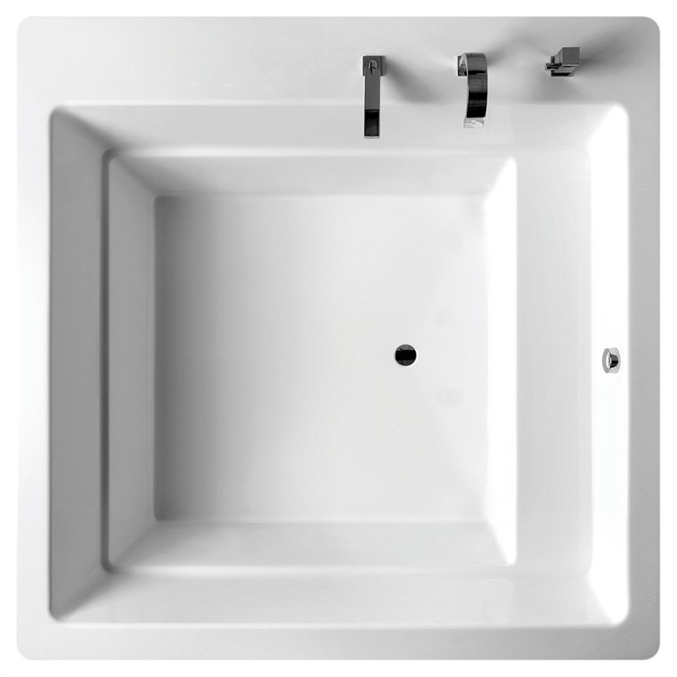 Aquatica Lacus Drop-In Acrylic Bathtub - White Aquatica Lacus