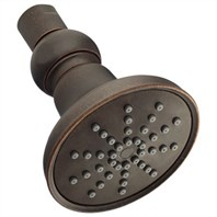 Danze Mono Round Single Function Showerhead 1.75 GPM - Tumbled Bronze D460052BR