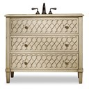 "Cole & Co. 40"" Designer Series Collection Mallory Sink Chest - Antiqued Parchment 11.22.275540.26"