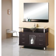 "Virtu USA Vincente Drawer 48"" Single Sink Bathroom Vanity - Espresso MS-48"