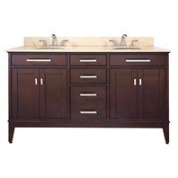 "Avanity Madison 60"" Double Bathroom Vanity - Light Espresso MADISON-60-LE"