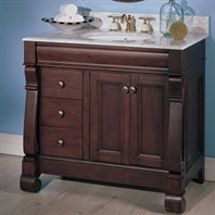 "Fairmont Designs 36"" Traditional Collection Victoria Vanity - Dark Cherry"